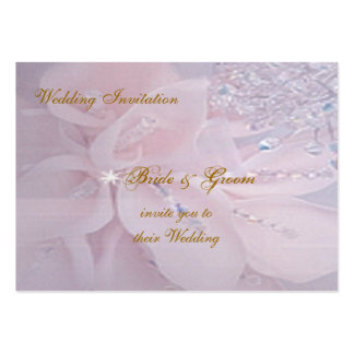Diamond Wedding Invitation Pack Of Chubby Business Cards