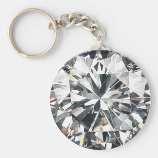 Diamonds Basic Round Button Key Ring