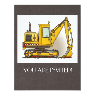 Digger Shovel 11 Cm X 14 Cm Invitation Card