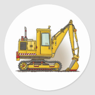 Digger Shovel Construction Sticker