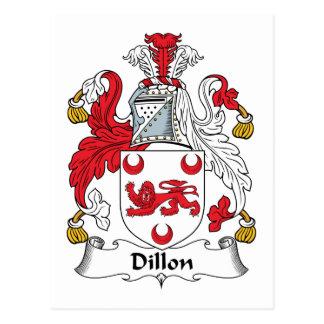 Dillon Family Crest Postcard