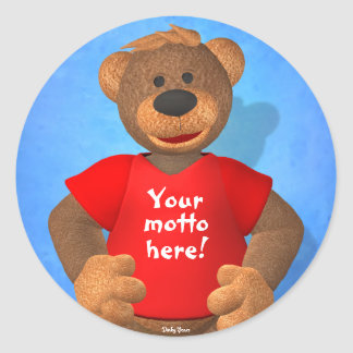 Dinky Bears: Your Motto Bear! Round Sticker