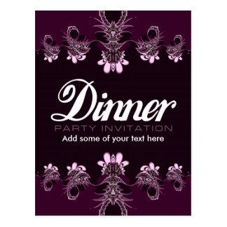 Dinner Party Invitation template Postcard