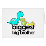 dinosaurs biggest big brother greeting card