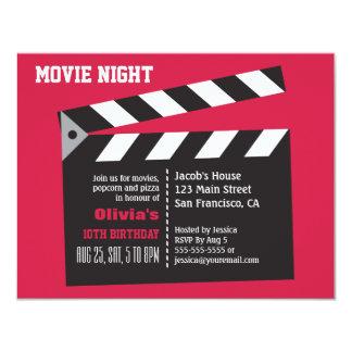 Director Board Movie Night Birthday Party 11 Cm X 14 Cm Invitation Card