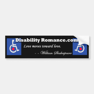 Disability Romance Bumper Sticker