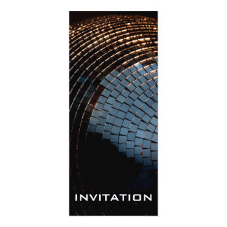 Disco Ball 10 Cm X 24 Cm Invitation Card