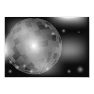 Disco Ball 13 Cm X 18 Cm Invitation Card