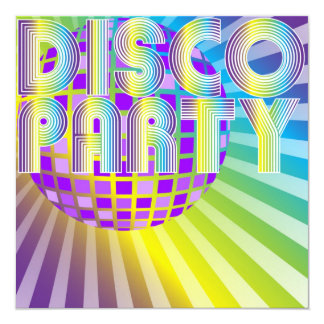Disco Party 13 Cm X 13 Cm Square Invitation Card