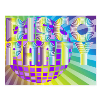 Disco Party Postcard