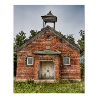 District 1 Schoolhouse Wisconsin Poster