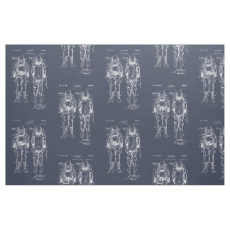 Diver Down! Blueprint Fabric