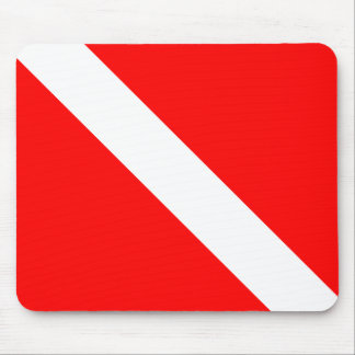 Diver Down Classic Flag Mouse Pad