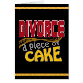 Divorce - Piece of Cake Greeting Card