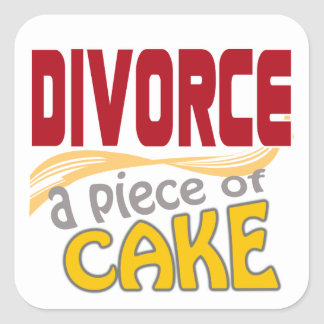 Divorce - Piece of Cake Square Sticker