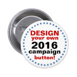 DIY Design Your Own Campaign blue stars 6 Cm Round Badge