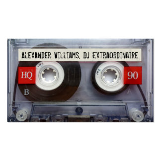 DJ Extraordinaire Cassette Tape Pack Of Standard Business Cards
