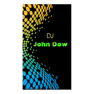 DJ Style Pack Of Standard Business Cards
