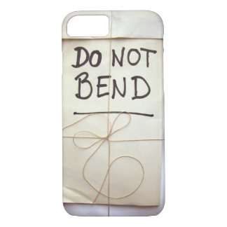 Do Not Bend Hand Lettered Paper Parcel with String iPhone 7 Case