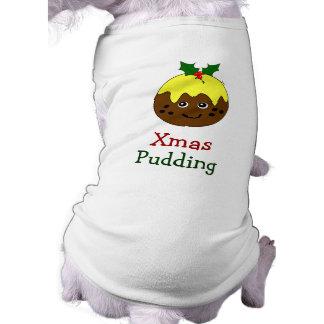Dog Christmas Outfit -- English Christmas Pudding Sleeveless Dog Shirt