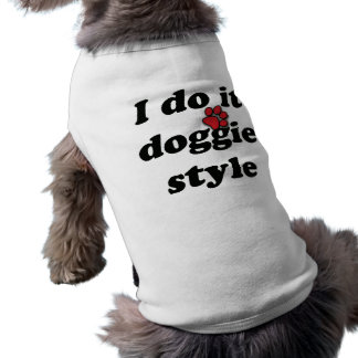 Doggie Style Sleeveless Dog Shirt