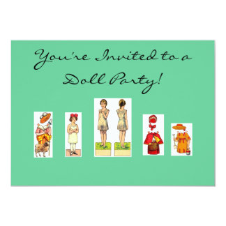 Doll Party Invitations