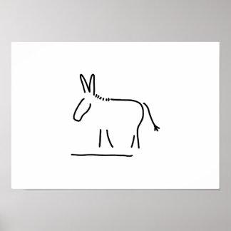 donkey maultier sturheit poster