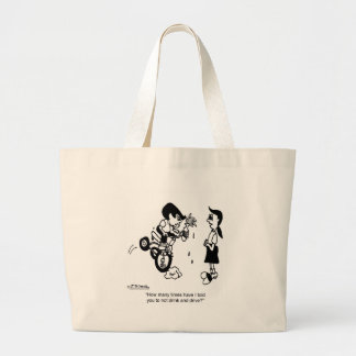 Don't Drink & Drive on a Trike Jumbo Tote Bag