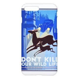 Don't Kill Our Wildlife Vintage WPA FAP iPhone 7 Plus Case