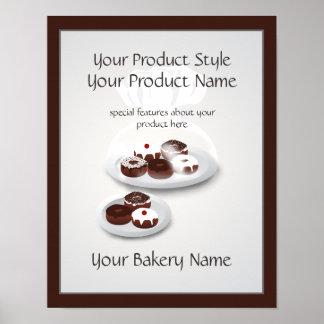 Donut Bakery Baker Shop Product Sign Poster