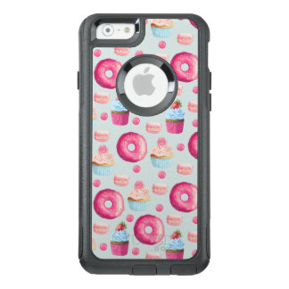 Donuts Macarons And Cupcake Sweet Treats Pattern OtterBox iPhone 6/6s Case