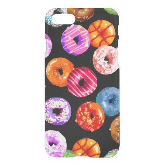 Donuts seamless pattern + your backgr. & ideas iPhone 7 case