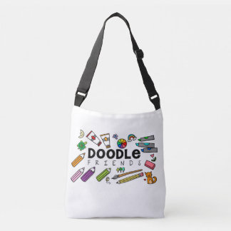 Doodle Friends Cross-Body Tote (with doodles) Tote Bag