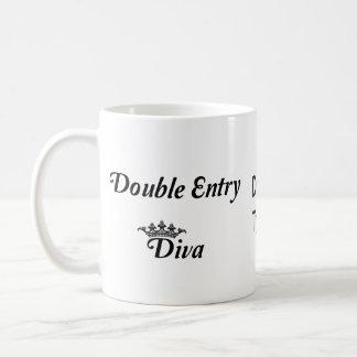 Double Entry Diva Basic White Mug