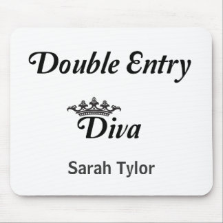 Double Entry Diva Mouse Pad