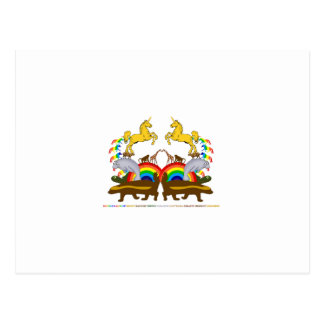 Double Rainbow Honey Badger Turtle Manatee... Postcard