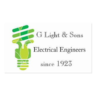 Double sided Light Bulb themed business card
