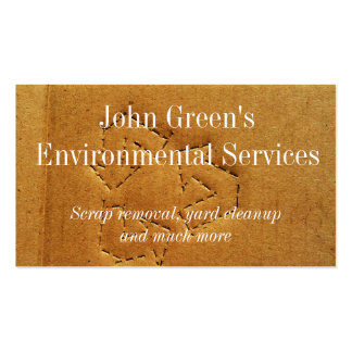 Double sided recycling themed business card