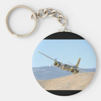 Douglas A26 Invader, Aerial View_WWII Planes Basic Round Button Key Ring