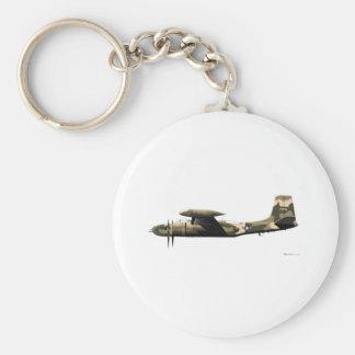 Douglas A-26 Invader Basic Round Button Key Ring