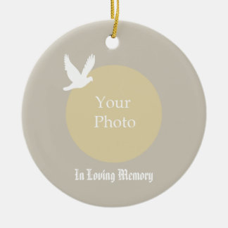 Dove with Photo Memorial Christmas Ornament