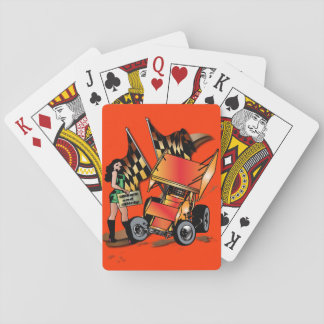 Down and Dirty Sprint Car Playing Cards