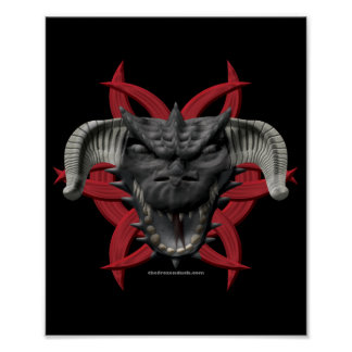 Dragon Head - Black Poster