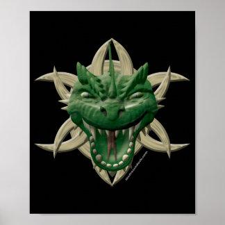 Dragon Head - Green Poster