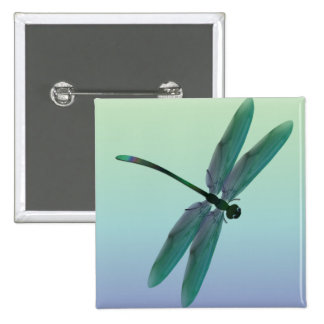 Dragonfly 15 Cm Square Badge