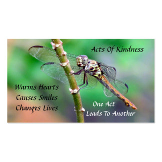 Dragonfly Random Acts of Kindness Card Pack Of Standard Business Cards