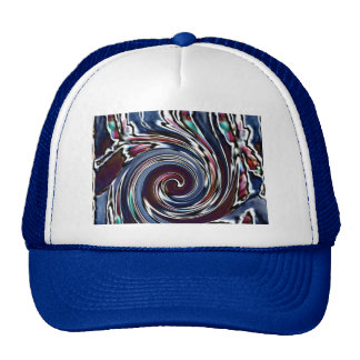 Dragonfly Wave Abstract Nature Cap