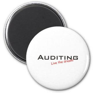 Dream / Auditing 6 Cm Round Magnet