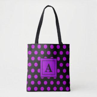 Dream Dot Grape Tote Bag