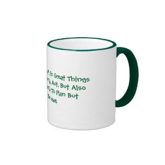Dream To Accomplish Great Things Ringer Mug